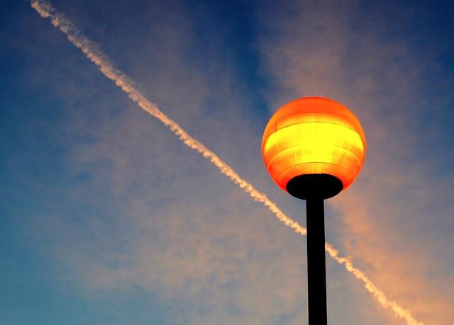 Glowing ball in the sky
