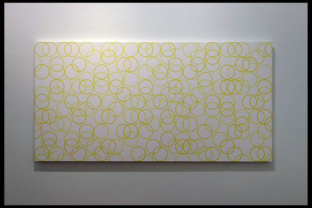two yellows, composition with circles 7 01 2011 riley b (kunstmuseum den haag 2020)