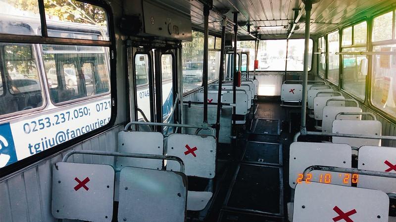Interior autobuz DAC 112UDM al Transloc Tg. Jiu