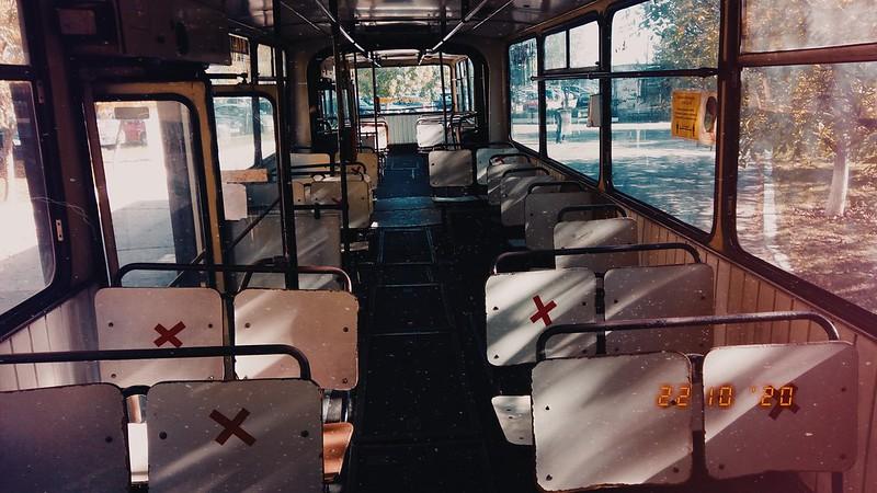Interior autobuz DAC 117UD #GJ02XJZ al Transloc Tg. Jiu