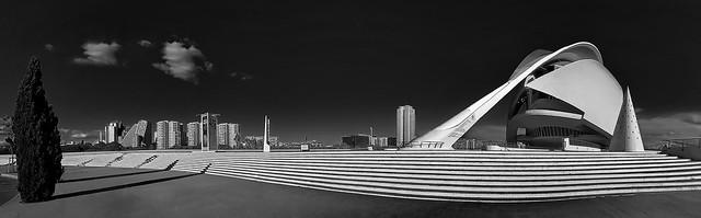 Opera and Skyline of Valencia