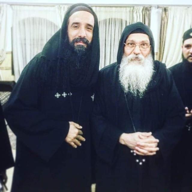 القمص سمعان شحاته مع الأنبا إبيفانيوس