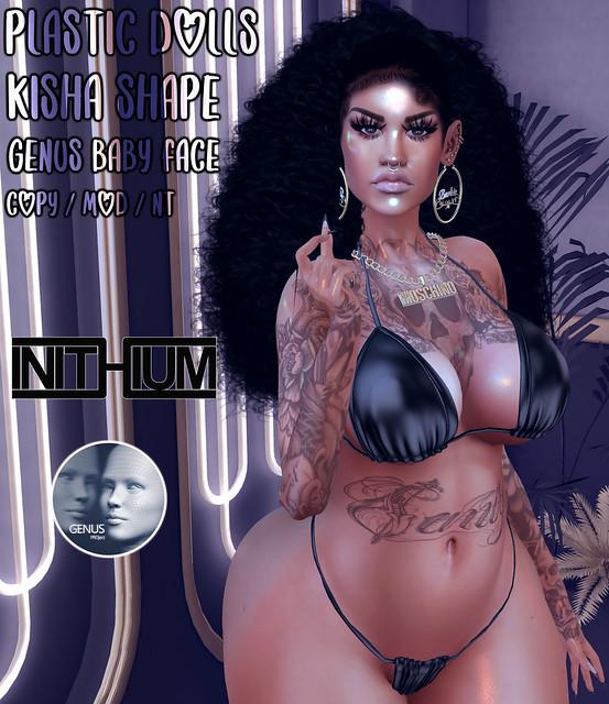 Plastic Dolls - Kisha Shape for the Brand new [ INITHIUM ] Mesh Body and Genus Baby Face