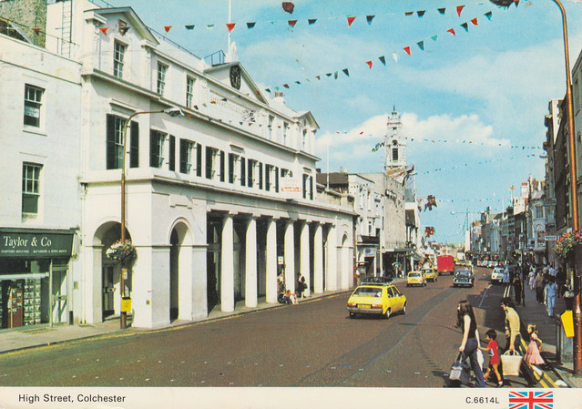 High Street, Colchester old postcard 1970s