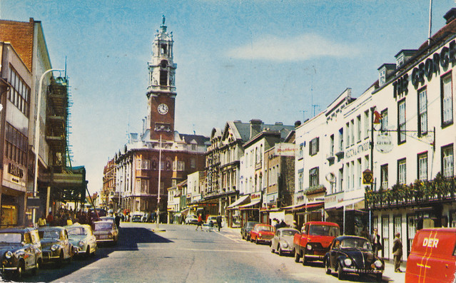 High Street, Colchester old postcard 1960s