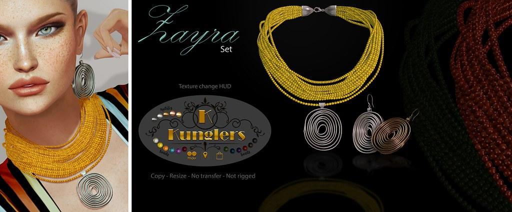 KUNGLERS Zayra set