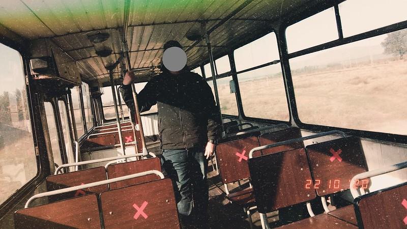 Interior autobuz DAC 112UDM #GJ03CDR al Transloc Tg. Jiu