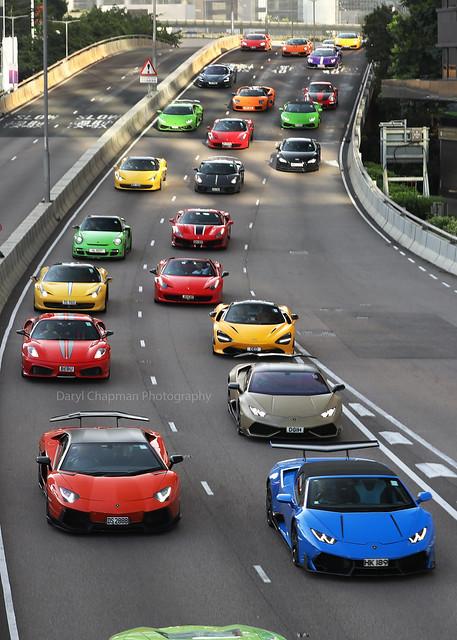 Lamborghini Aventador / Huracan / Gallardo / Murciaelago / SVJ, Ferrari 430 Scuderia / 458 / 488, Admiralty Hong Kong