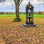 Victorian fountain in an Autumn Haslam Park