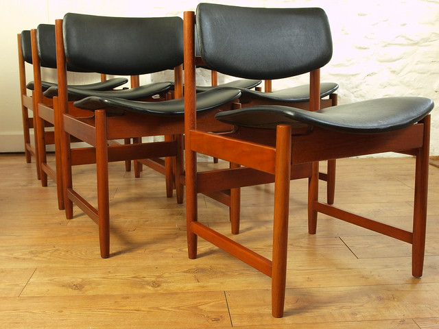 White & Newton Teak 60's set of dining chairs.