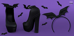 New - Bat Heels & Headband