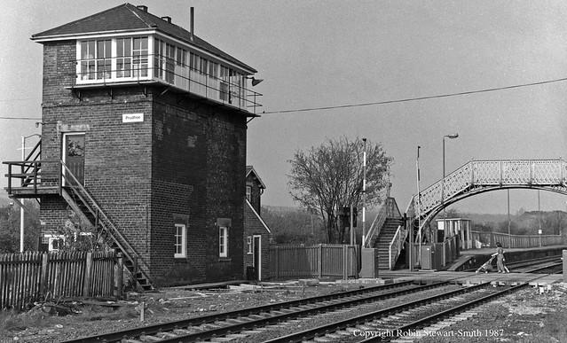 LNER Prudhoe Signal Box (North Eastern Railway 1872) on 3rd August 1987