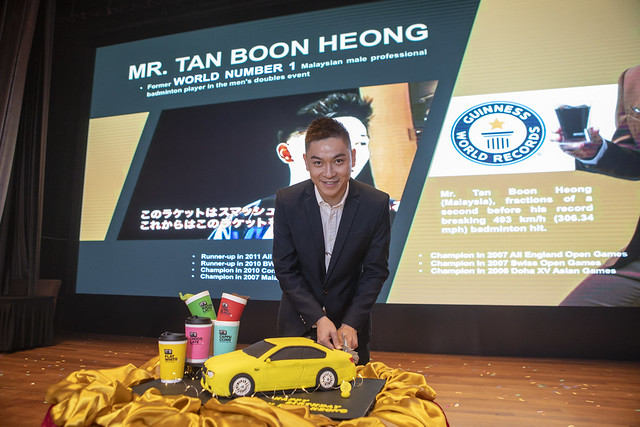 Tan Boon Heong actual birthday at the same day and surprise birthday cake by AIK CHEONG