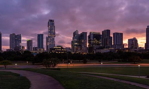 austin austintexas texas skyline dawn morning colorful buildings downtown downtownaustin atx traviscounty creativecommons