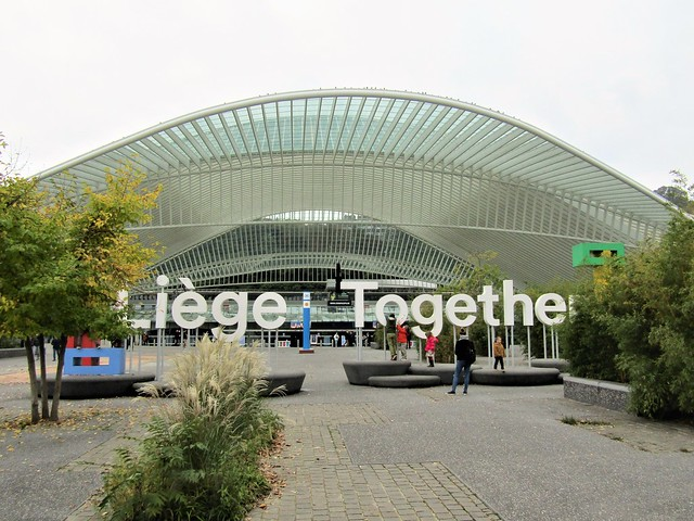 Railway station in Liège-Guillemins, Belgium, designed by Valencian architect Santiago Calatrava