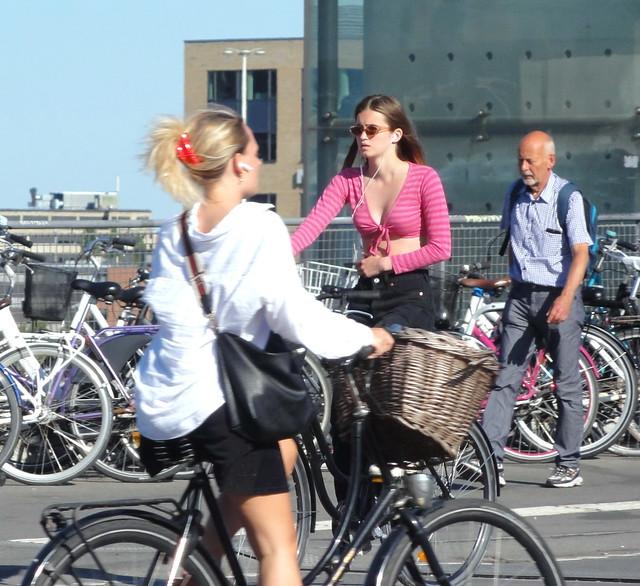 The Copenhagen summer ipod girls on bikes are now just memories