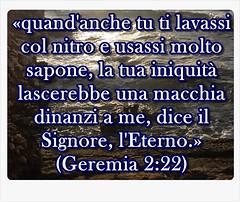 Solo il sangue di Gesù può lavare il peccato dalle anime degli uomini peccatori