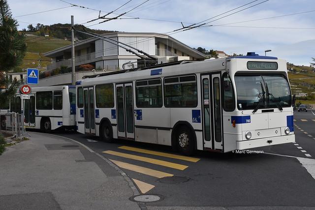 Trolleybus NAW BT-25 n°780 en service sur la ligne 9. © Marc Germann