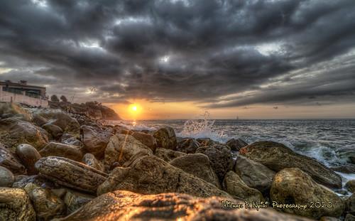 palosverdespeninsulacalifornia palosverdesestates malagacove rocks rockyshore sunset clouds cloudscape california southerncalifornia pacificocean caviardreams