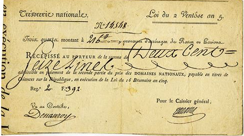 1797 France Tresorerie National