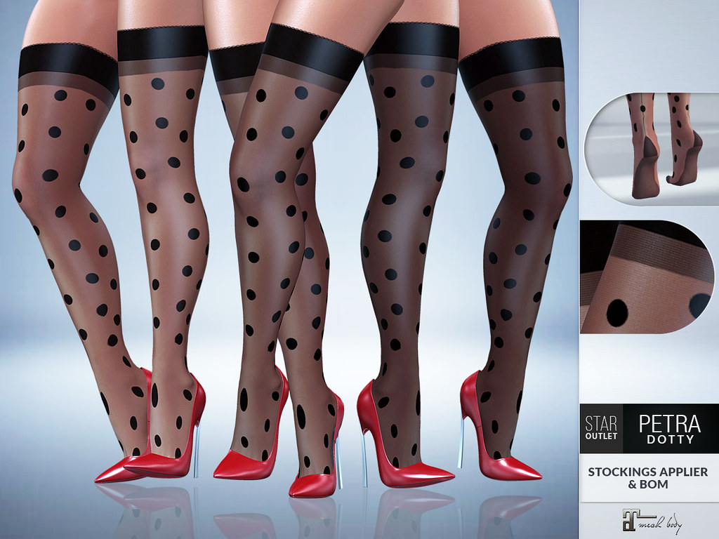 Star Outlet Petra Dotty Stockings Black - BOM & Maitreya Applier