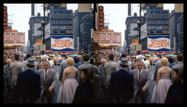Times Square - New York City - July, 1953