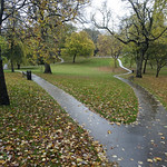 Winckley Square in the rain