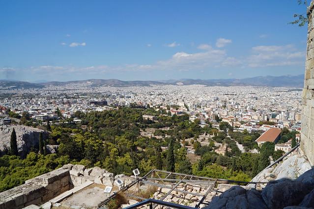 2020-10-10 135 Griechenland; Athen, Akropolis, Blick auf die Agora