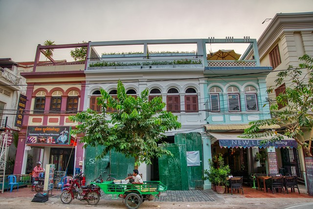 Shop houses in Siem Reap, Cambodia