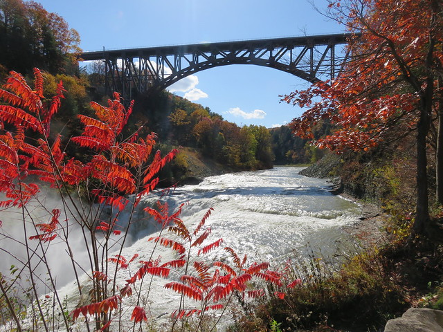 """Letchworth State Park, NY  The Upper Falls """" The Grand Canyon of the East"""""""