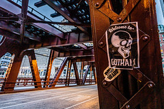 The Batman Filming in Chicago 2020   Welcome to Gotham City Skull Flyer