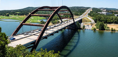 pennybacker bridge river austin austintexas atx texas landscape panoramic creativecommons jcutrer