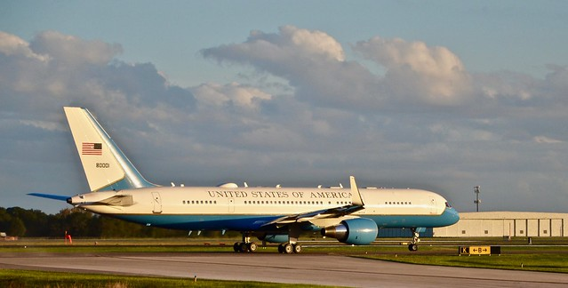 2020 - Victory Rally with Vice President Mike Pence, Lakeland, Florida; Air Force Two