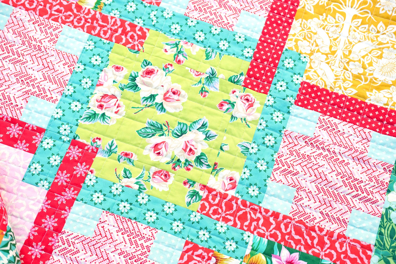 The Judy Quilt Pattern in True Kisses - Kitchen Table Quilting