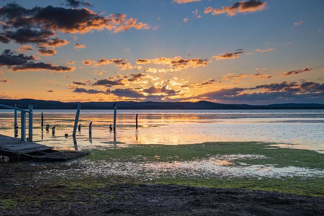 Sunset Light over the Lake