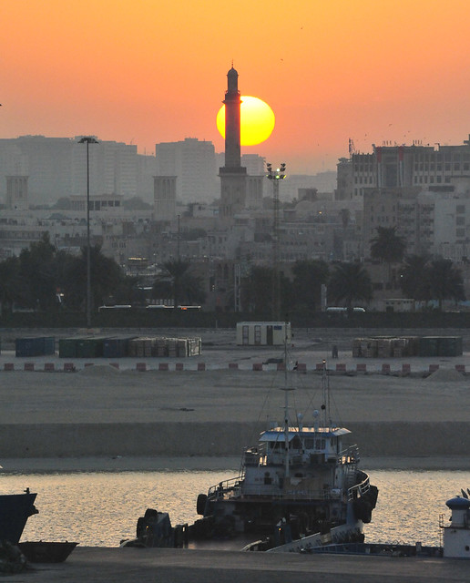 Sunrise over Dubai