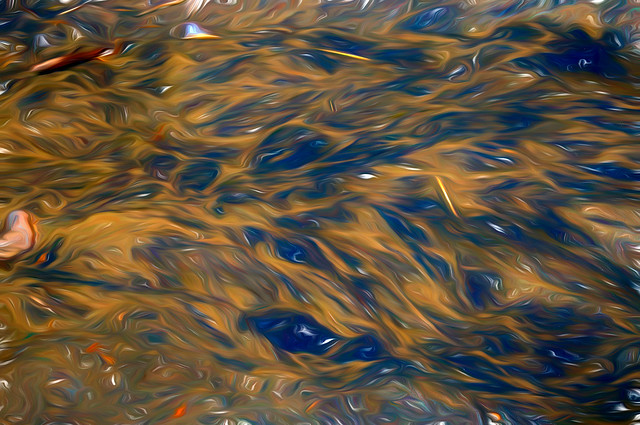 Ripples on a sandy beach - Abstract