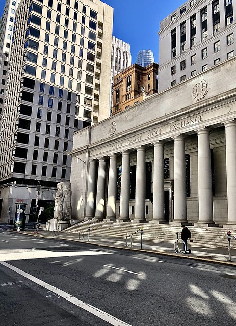 The Pacific Coast Stock Exchange building, built in 1930.