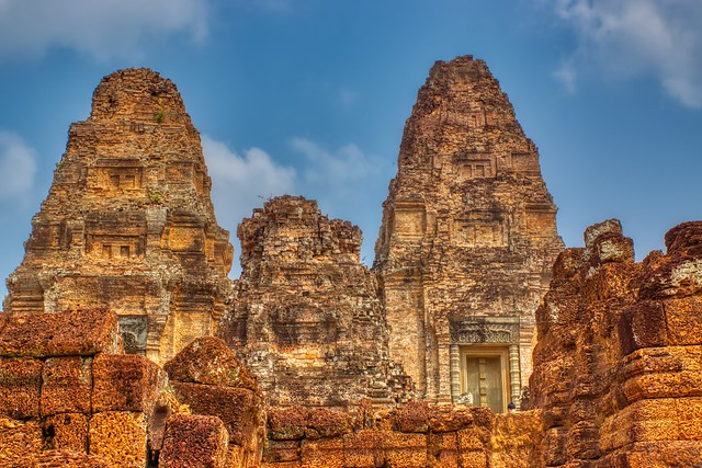 Eastern Mebon temple ruins in Angkor Historical Park near Siem Reap, Cambodia