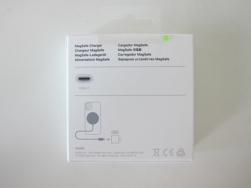 Apple MagSafe Charger - Box Back