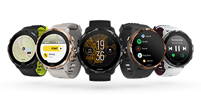 I have the all black version - Suunto also offers the Black Lime, Graphite Copper, Sandstone Rosegold and White Burgundy colours. Here you can see the watches displaying various modes and screens.