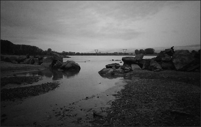 Impressionen eines düsteren Oktobernachmittags am Rhein IV