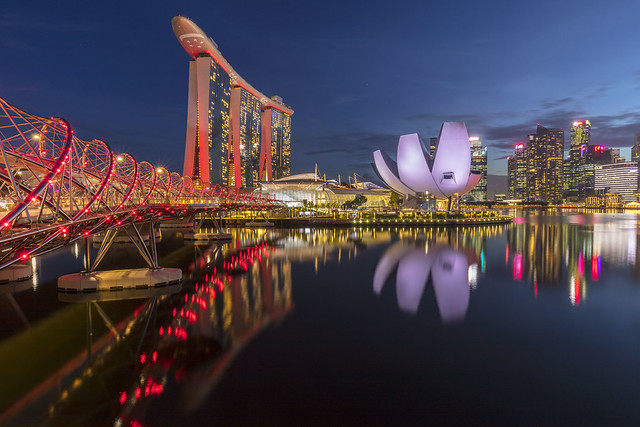 Blue Hour Reflections at Marina Bay [In Explore 25 Oct 2020]