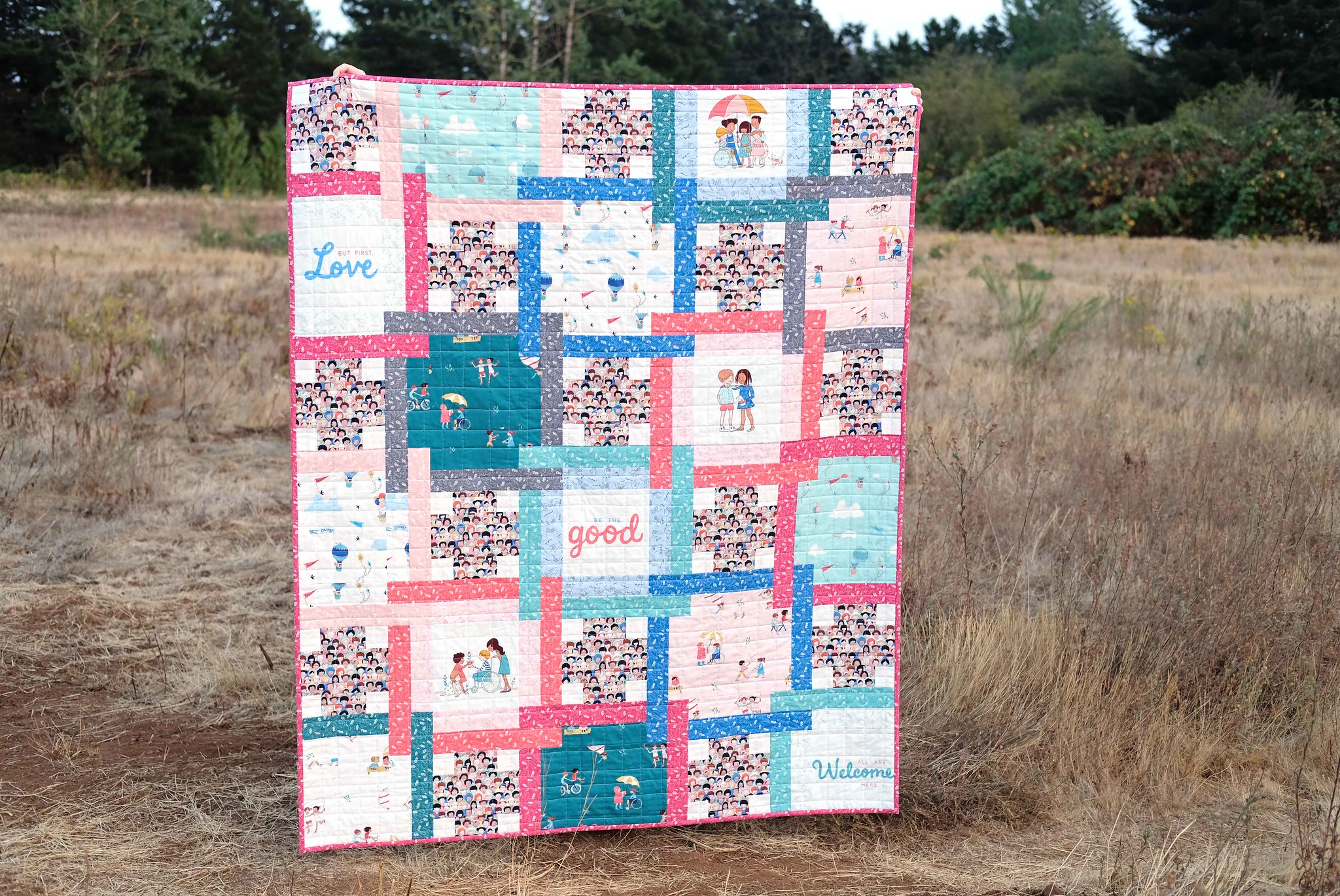 The Judy Quilt Pattern in Wonderful World - Kitchen Table Quilting