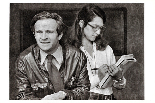 François Truffaut and Nathalie Baye in La Nuit Américaine (1973)