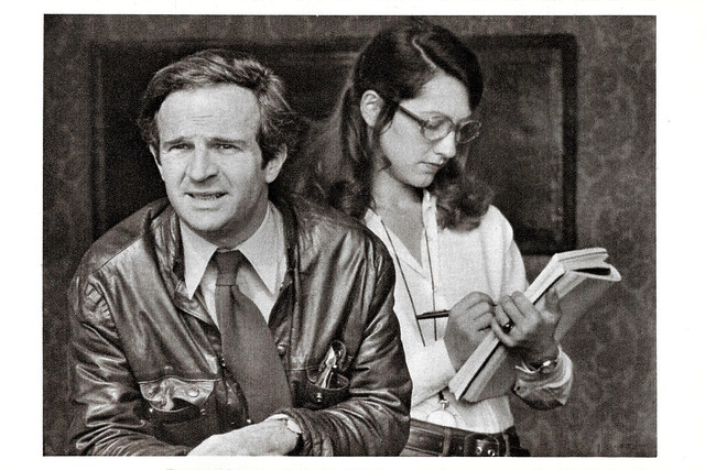 François Truffaut and Nathalie Baye in La Nuit Américaine (1973)
