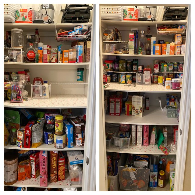 Pantry reorganization // Before and After