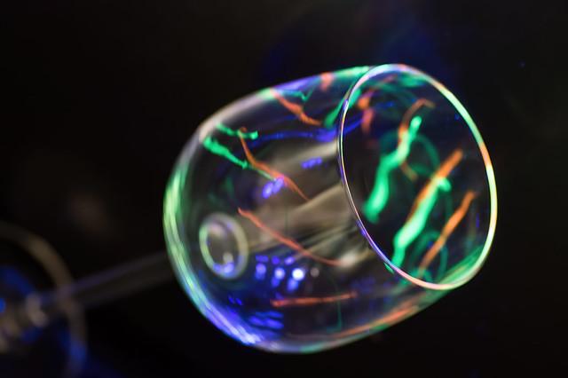 A glass of neon to lighten up
