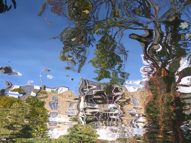 Impressionist Tree and Houses, Regent's Canal, Islington, Londo