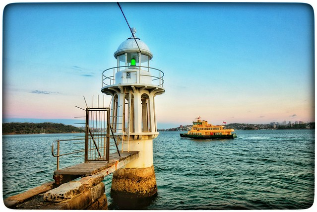 The lighthouse and the ferry